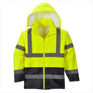 Hi-Vis Contrast Rain Jacket – H443