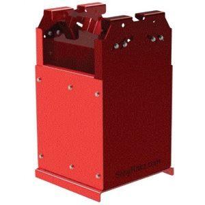 Red Dual Storage Bin
