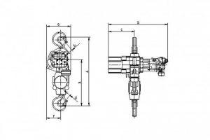 JDN Hydraulic Hoists Dimensions