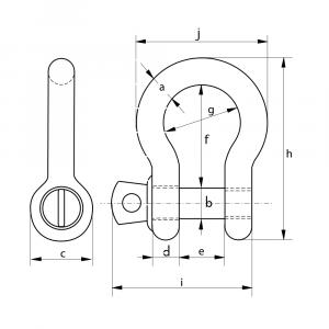 Green Pin Bow Shackle – Van Beest