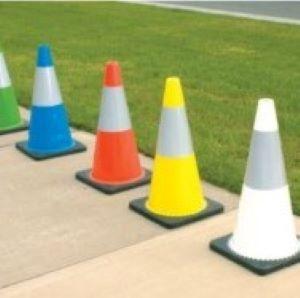Reflective Coloured Cones